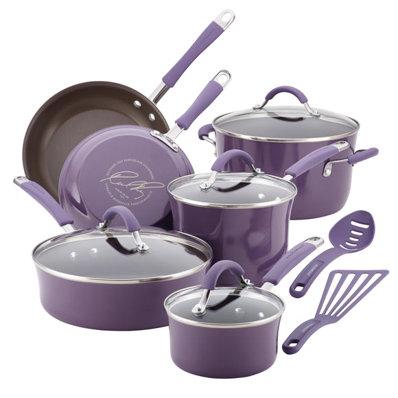 Rachael Ray 12pc Cookware Set - Lavender 16783