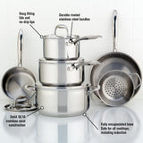 Meyer Accolade Stainless Steel Cookware Set, 10-Piece, Made in Canada