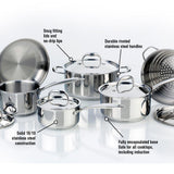 Meyer Accolade Stainless Steel Cookware Set, 11-Piece, Made in Canada