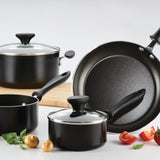 12pc Farberware Cookware Set - Black 22286