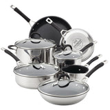 Circulon Momentum Stainless Steel 11pc Cookware Set