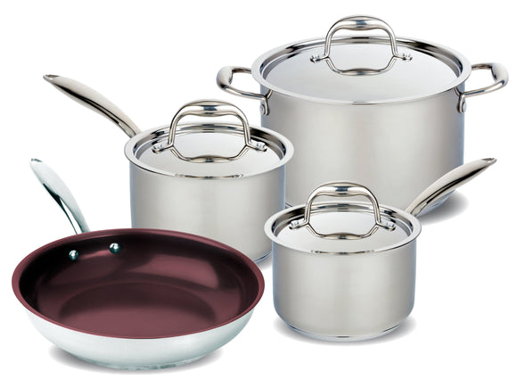 Meyer Accolade Stainless Steel Cookware Set, 7-Piece, Made in Canada