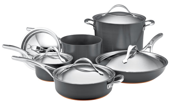 Anolon Nouvelle Copper Hard Anodized 10 pc Cookware Set