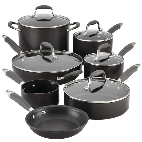 Anolon Advanced 12pc Hard Anodized Cookware Set