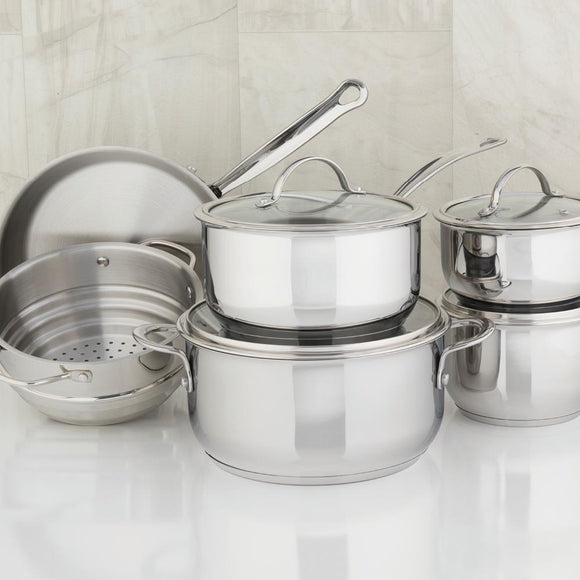 Meyer Nouvelle Stainless Steel 10-Piece Set, Made in Canada PRE-ORDER NOW FOR MAY 10 SHIPPING!