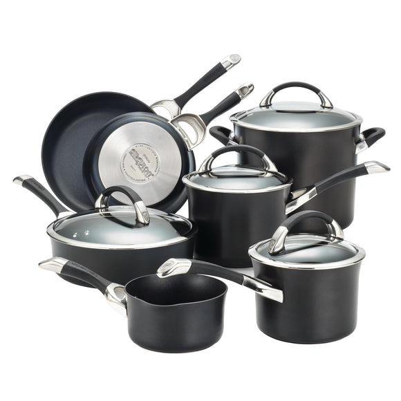 Circulon Symmetry 11pc Hard Anodized Cookware Set