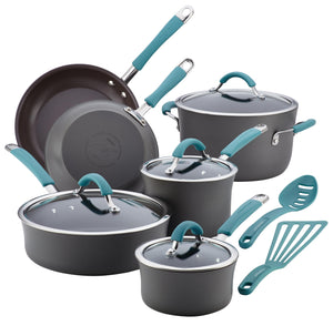 Rachael Ray 12pc Cookware Set - Agave Blue 87641