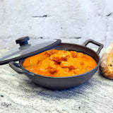 Meyer Cast Iron 26cm/3L Kadai with lid