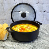 Meyer Cast Iron 24cm/4L Sauteuse with lid