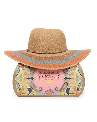 Powder Striped Sun Hat