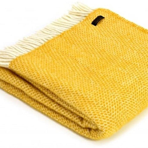 Beehive Throw Yellow