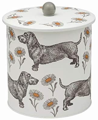 Dog and Daisy Biscuit Barrel