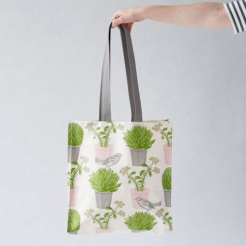 Cactus and Bird Tote Bag