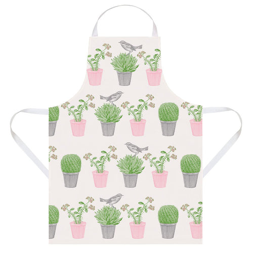 Cactus and Bird Apron