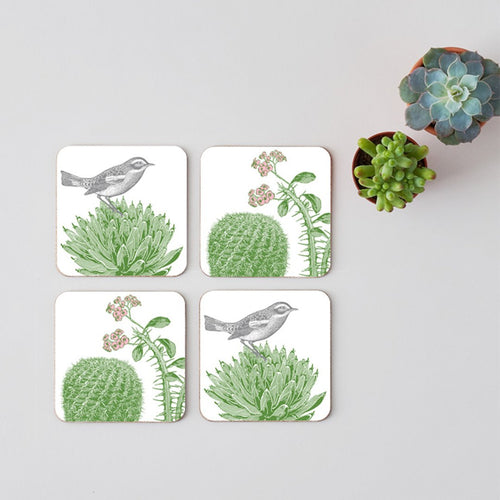 Cactus and Bird Coasters