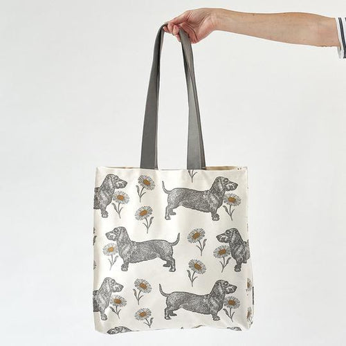 Dog and Daisy Tote Bag