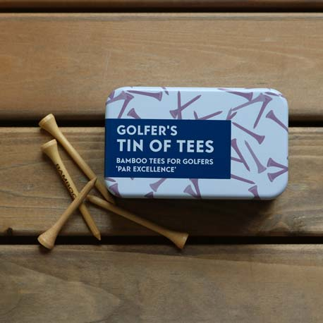 Golfer's Tees in a Tin