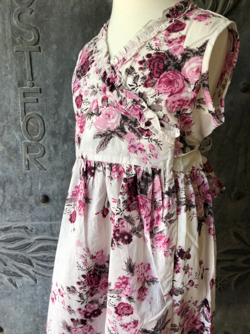 Girls Floral Wrap Dress- XL