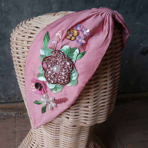 Headband- Floral Pink