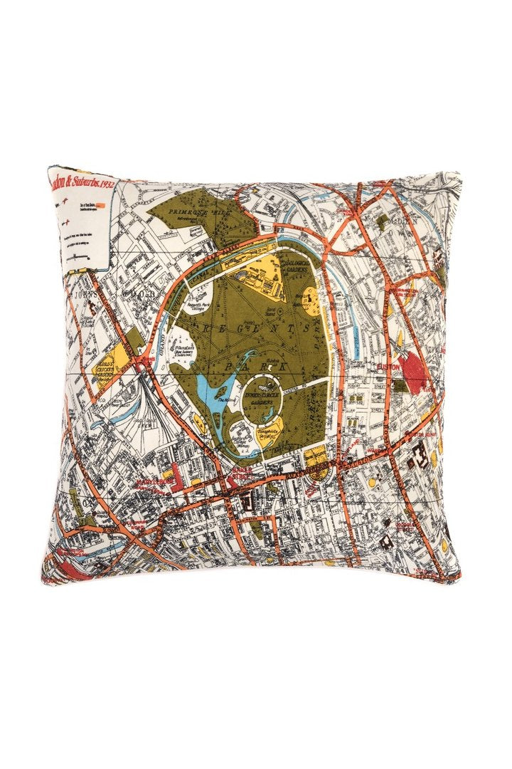 London Map Cushion Square