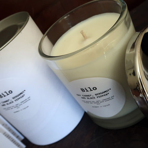 Bilo Luxury Candle- May Chang, Bergamot and Black Pepper