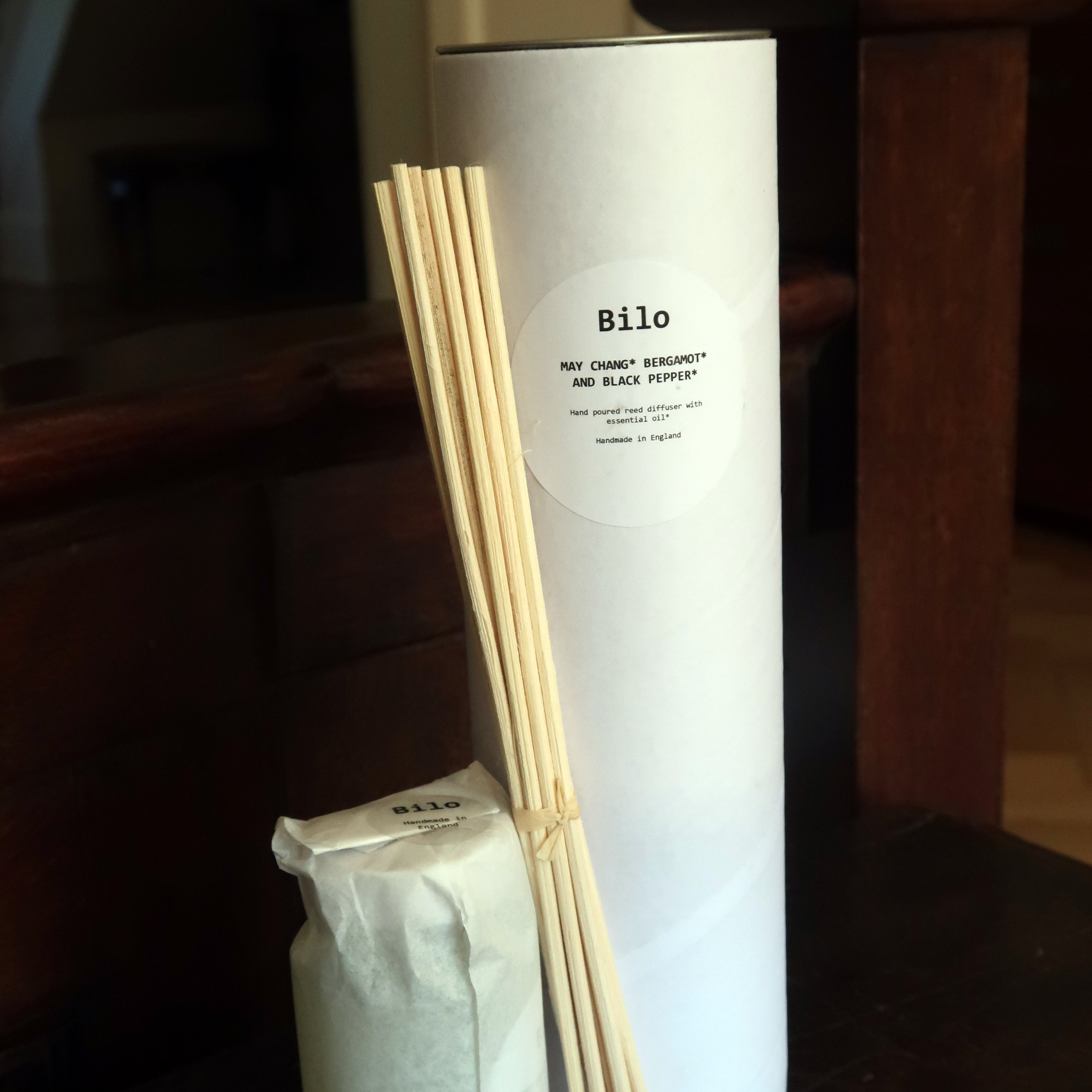 Bilo Reed Diffuser- May Chang, Bergamot and Black Pepper