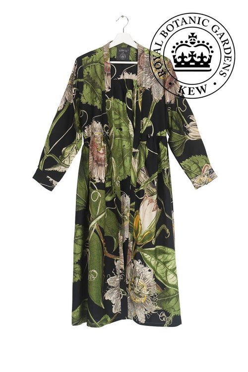 One Hundred Stars Passion Flower Black Duster