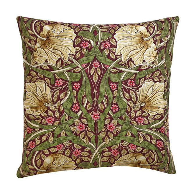 William Morris Pimpernel Aubergine Cushion