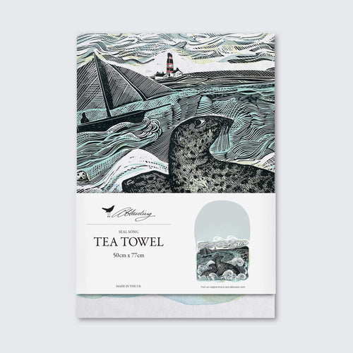 Angela Harding Seal Tea Towel