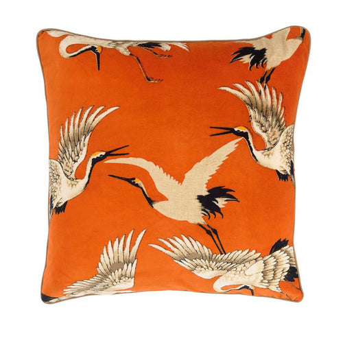 Stork Cushion Orange Square