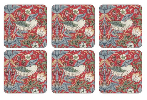 William Morris Strawberry Thief Coasters