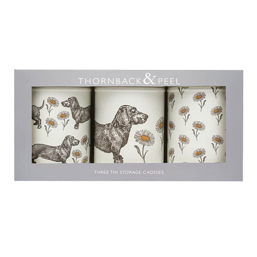 Dog and Daisy Set of 3 Storage Caddies