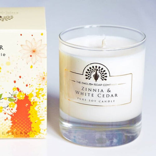 Zinnia and White Cedar Candle