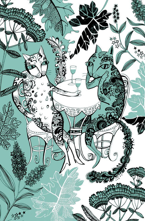 Cat Tea Towel by Lush Designs