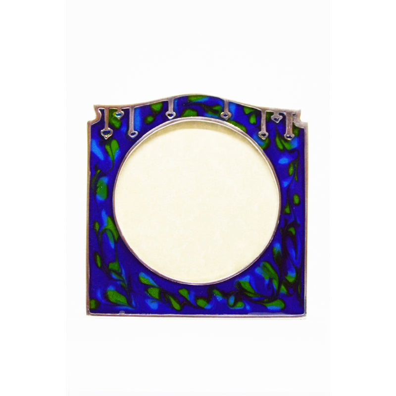 Pewter Knox Enamel Picture Frame