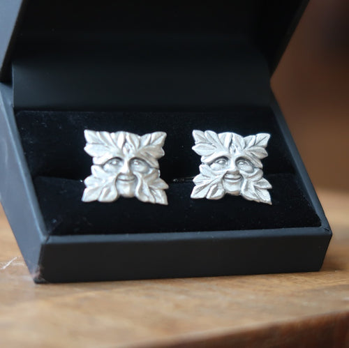 Pewter Green Man Cufflinks