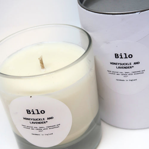 Bilo Luxury Candle- Honeysuckle & Lavander