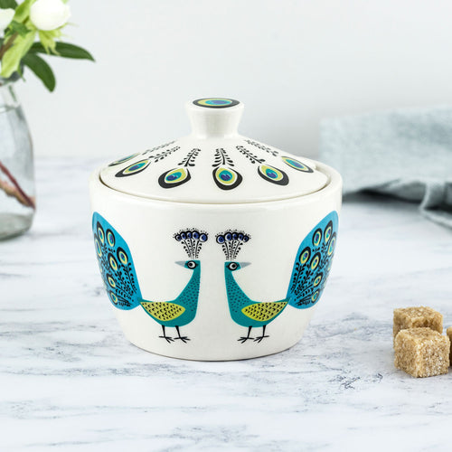 Hannah Turner Peacock Sugar Bowl