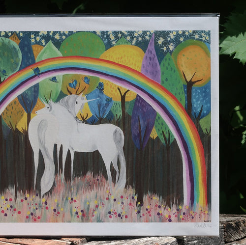 Unicorn Rainbow Print Version 2