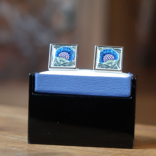 Sonia Spencer De Morgan Thistle Cufflinks