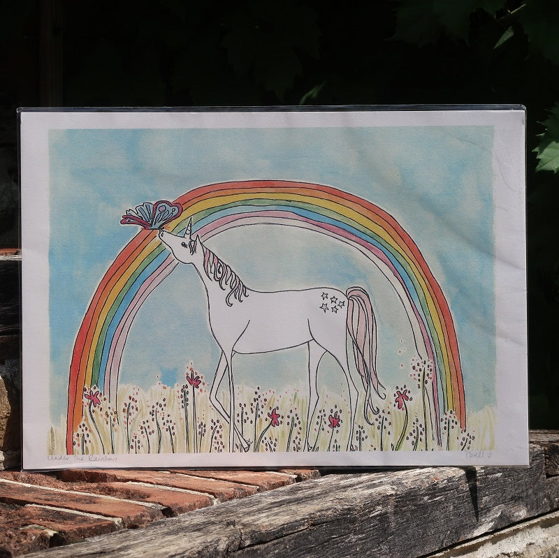Unicorn Rainbow Print