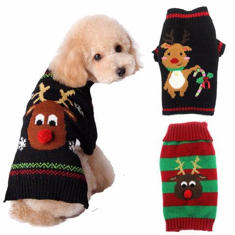 Adorable Christmas Puppy & Dog Sweater