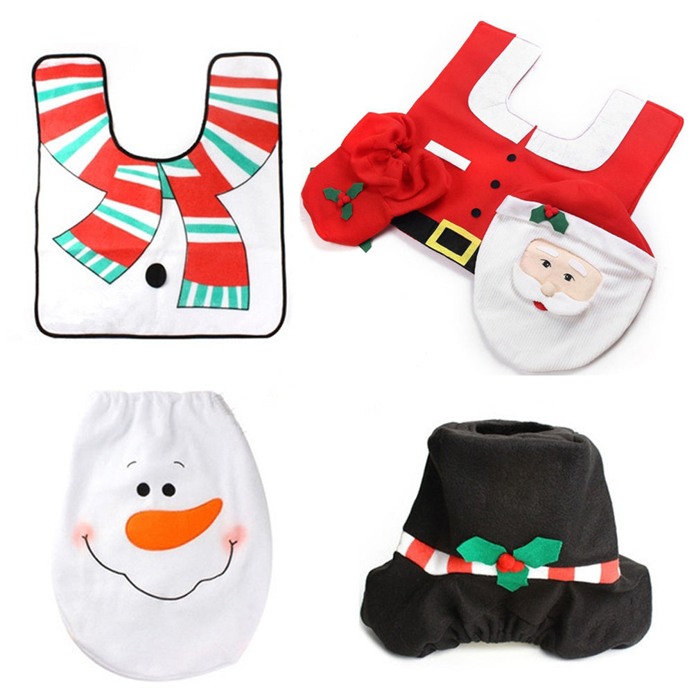 Christmas Toilet Seat Cover Adorable And Tank Set