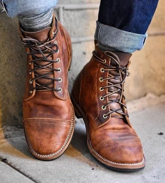 9e95edbe High Quality Men's Vintage British Style Martin Boots
