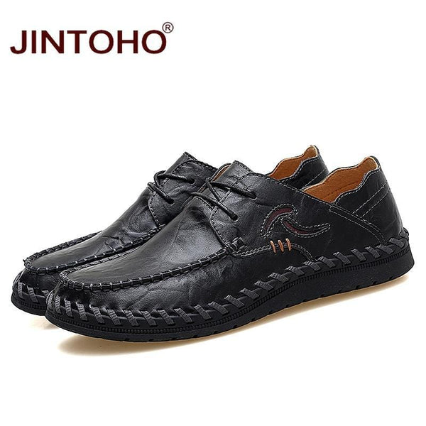 714f577e2ce Big Size Luxury Handmade Leather Moccasins Casual Men Shoes