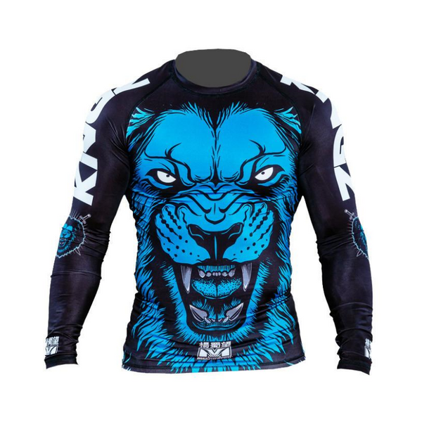 Kingz Royal Lion V1 Long Sleeve Rash Guard by Meerkatsu