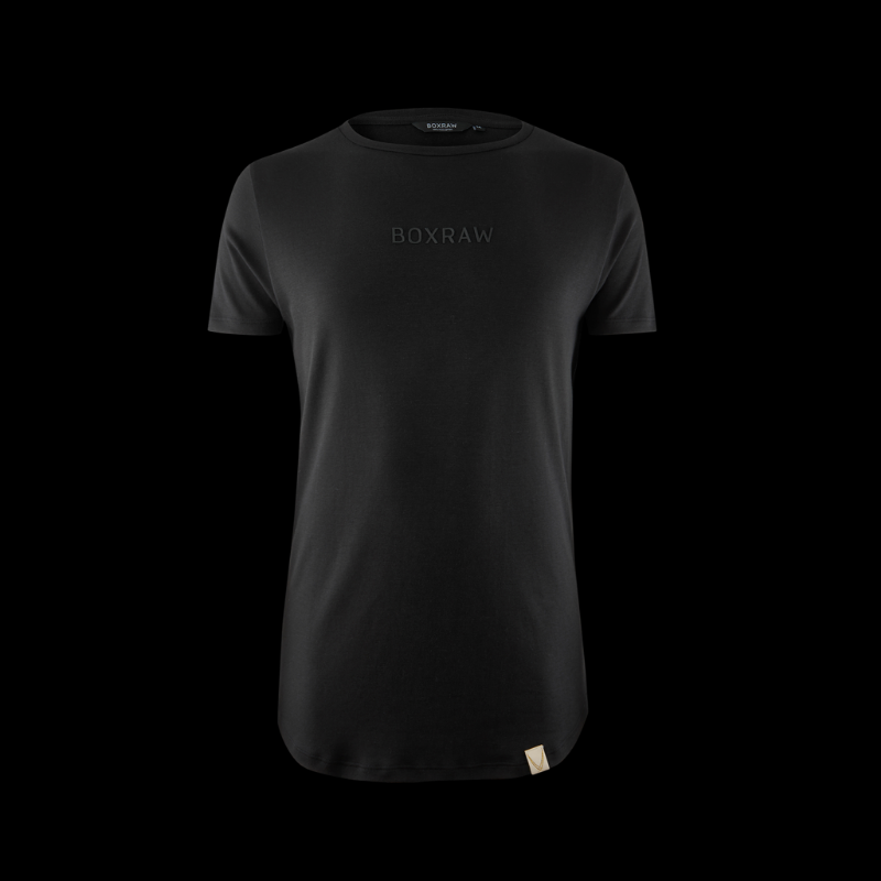 BOXRAW PIMA TAILORED T-SHIRT - BLACK