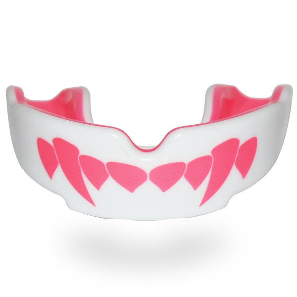 SAFEJAWZ Extro Series Self-Fit 'PINK FANGZ' Mouthguard