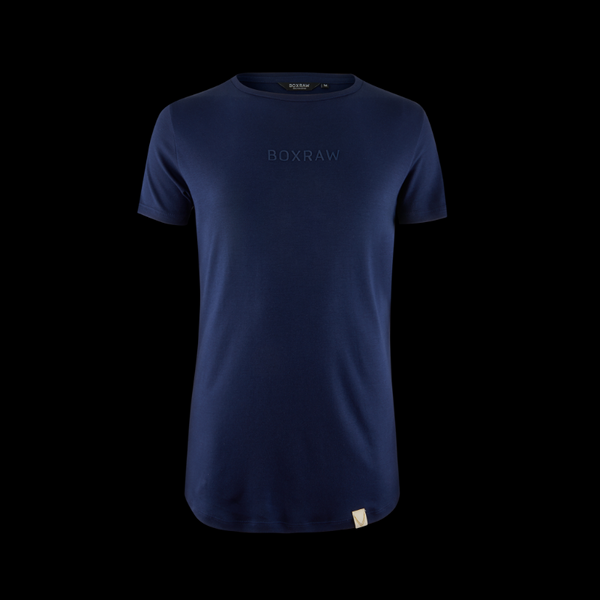 BOXRAW PIMA TAILORED T-SHIRT - BLUE