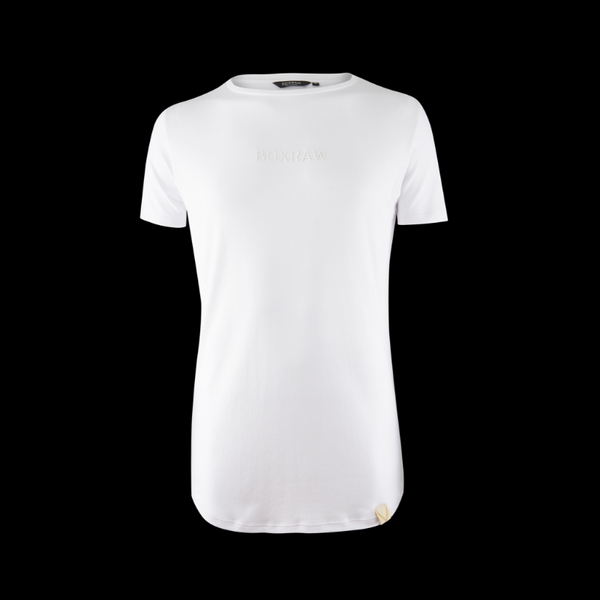BOXRAW PIMA TAILORED T-SHIRT - WHITE